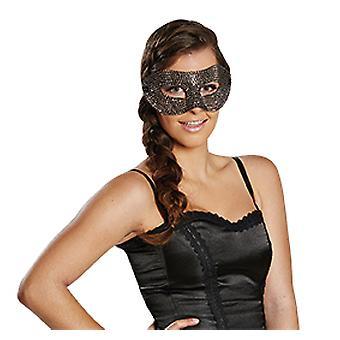 Domino Diamant silber Maske Bling Bling Accessoire Fasching Karneval