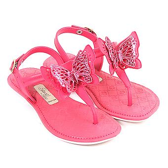 Grendha Kids Sense Butterfly Plastic Buckle Sandal Bright Pink