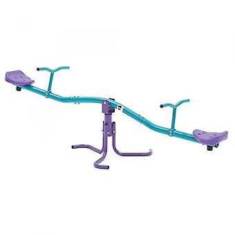 Plum Rotating Seesaw Outdoor Play Equipment Purple/Green