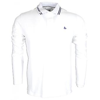Money Clothing All Money Long Sleeve White Polo