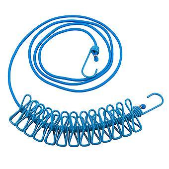 TRIXES blu viaggio 12 Peg lungo compatto flessibile linea di lavaggio