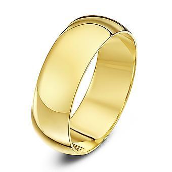 Anneaux de mariage Star D lourd or jaune 18ct 7mm bague de mariage
