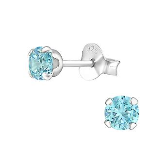 Tulip - 925 Sterling Silver Classic Ear Studs - W18375x