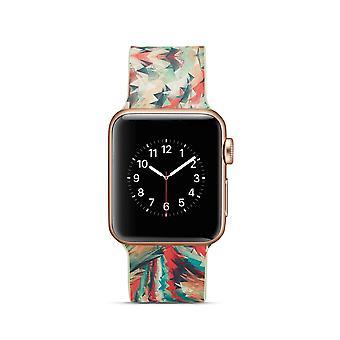Klockrem silikon dla Apple Watch 4 40 mm, 38 mm-3/2/1 kolorowy Tupot geometryczne