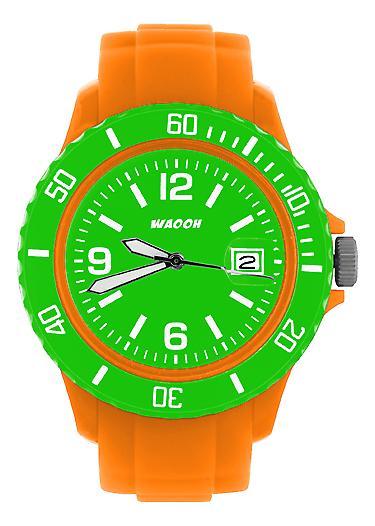 Waooh - Watch Dial & Bezel MONACO38 Orange Color