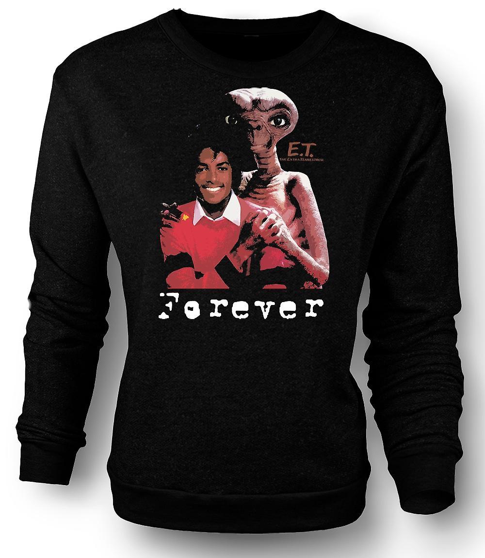 Heren Sweatshirt Et Michael Jackson - Forever Alien