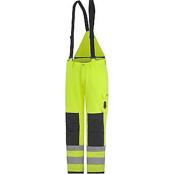 Helly Hansen Mens Aberdeen Insulated Hi Vis Workwear Trouser Dungarees