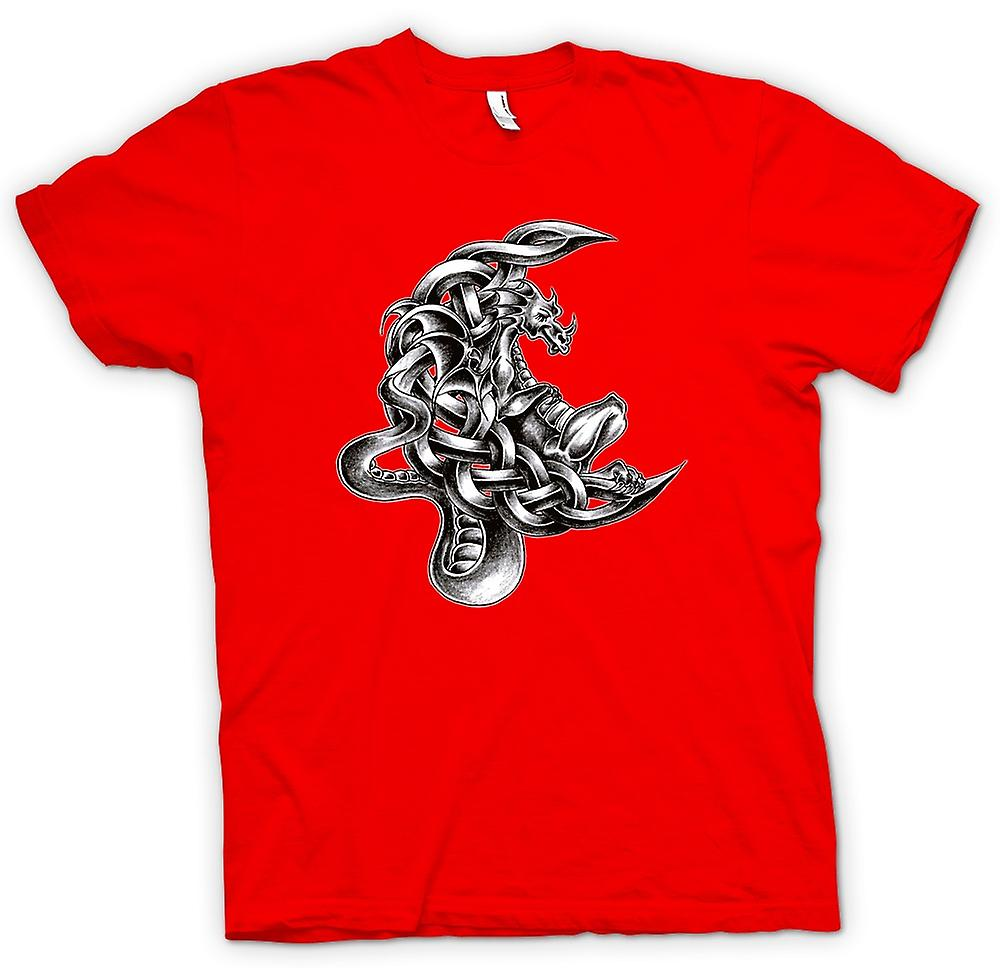 Mens T-shirt - Dragon Tattoo - Design Sketch