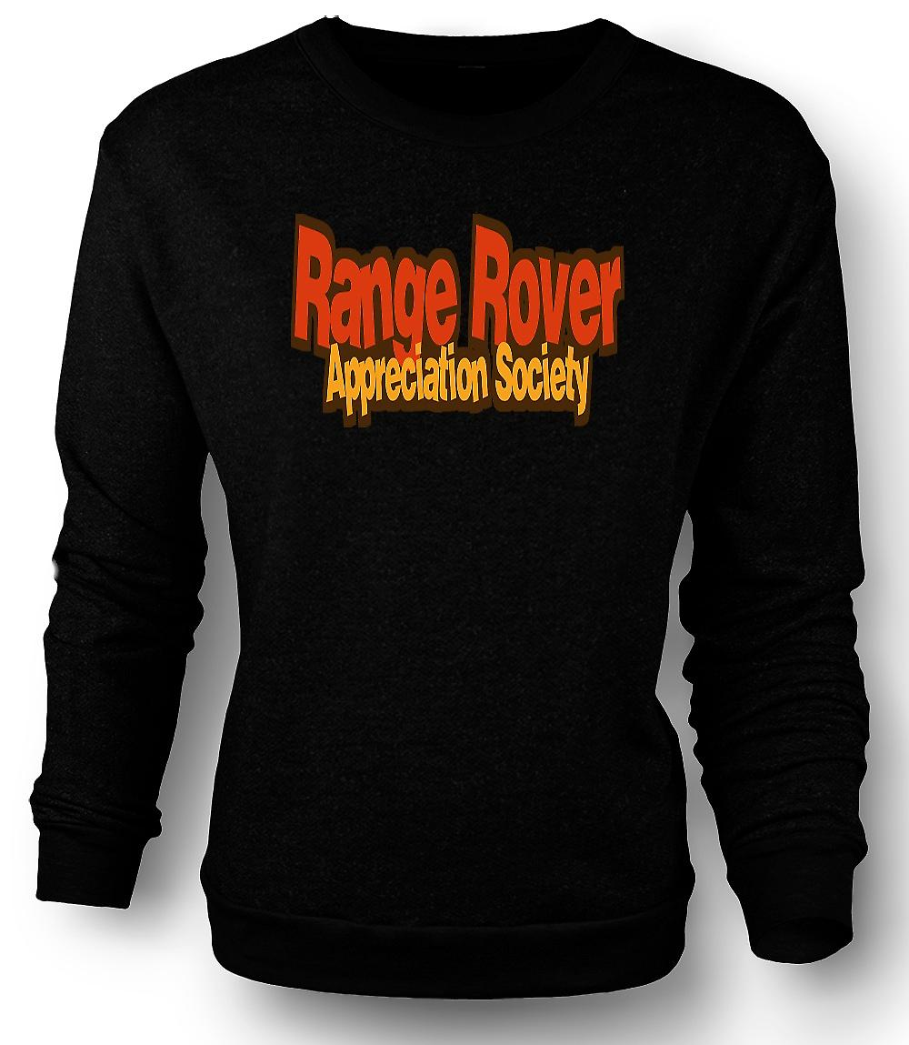 Mens Sweatshirt Range Rover Appreciation Society