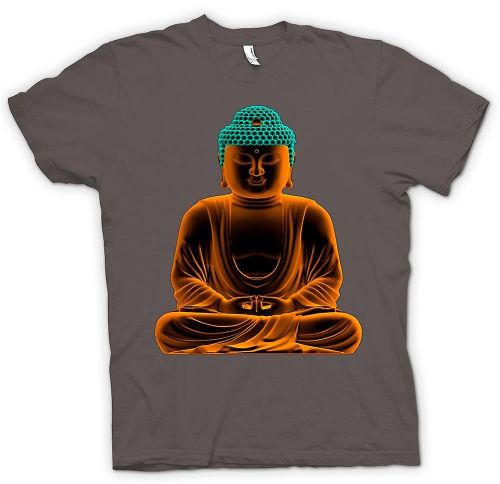Mens t-shirt - sereno Buddha d'oro - spirituale