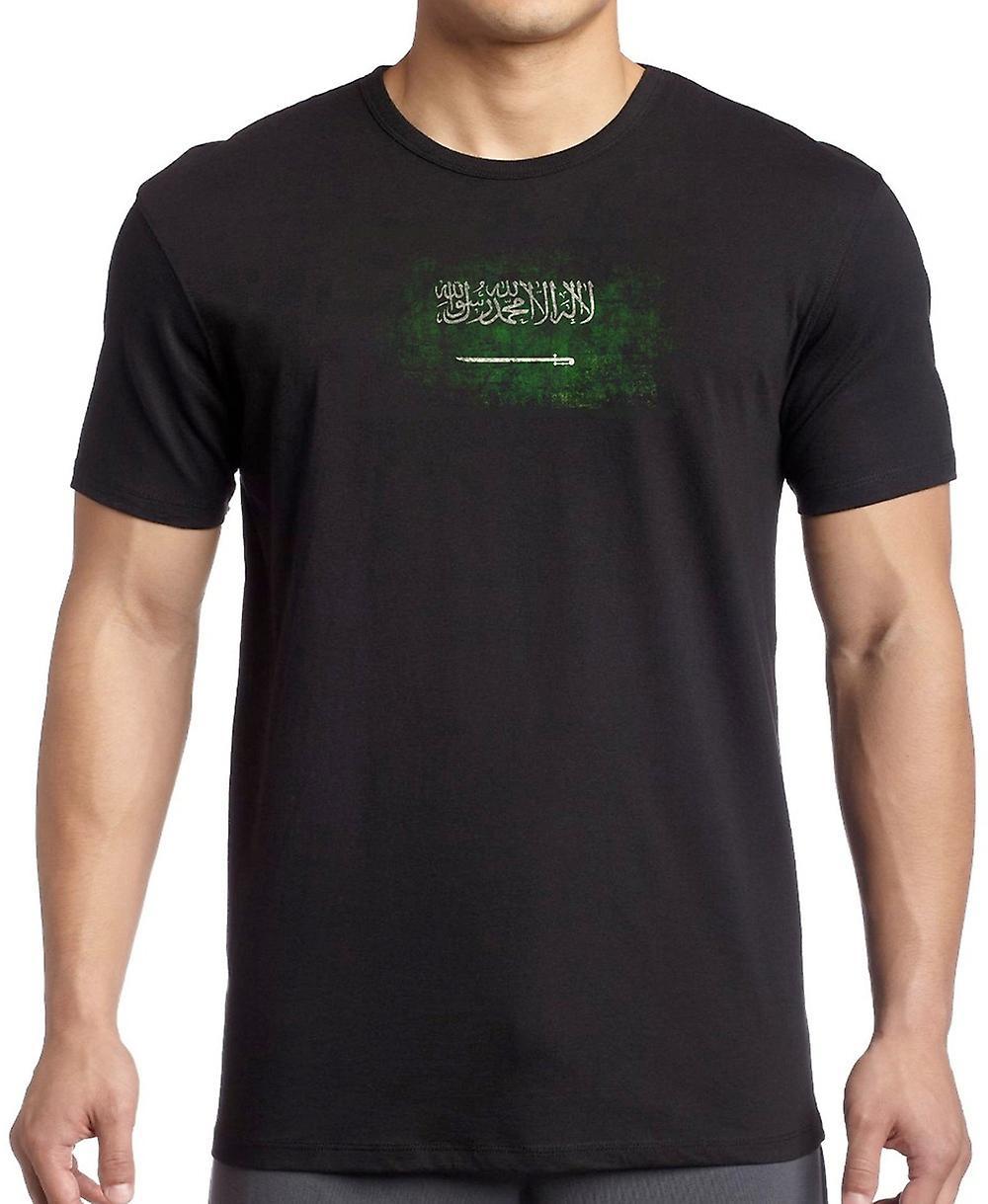 Saudia Arabian Saudi-Arabien Grunge Flagge Kinder T Shirt
