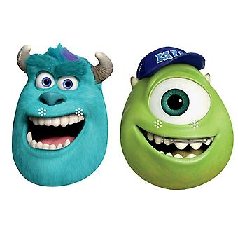 Sulley and Mike Party Card Face Masks set of 2 (Monsters University)