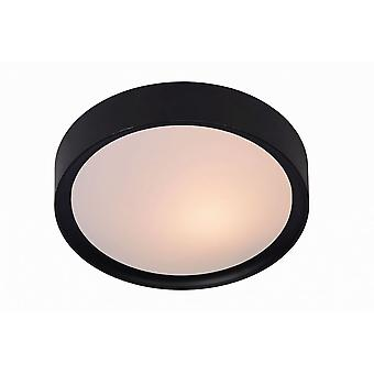 Lucide Lex moderno redondo sintético Material preto rente teto luz
