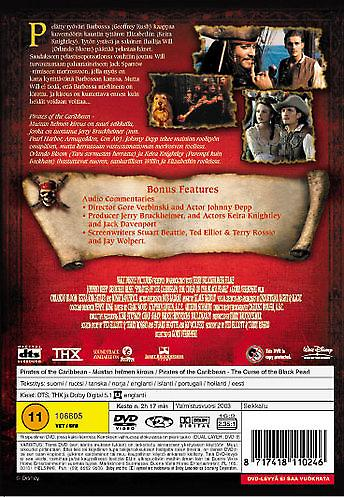 Pirates of the Caribbean the curse of the Black Pearl (DVD)