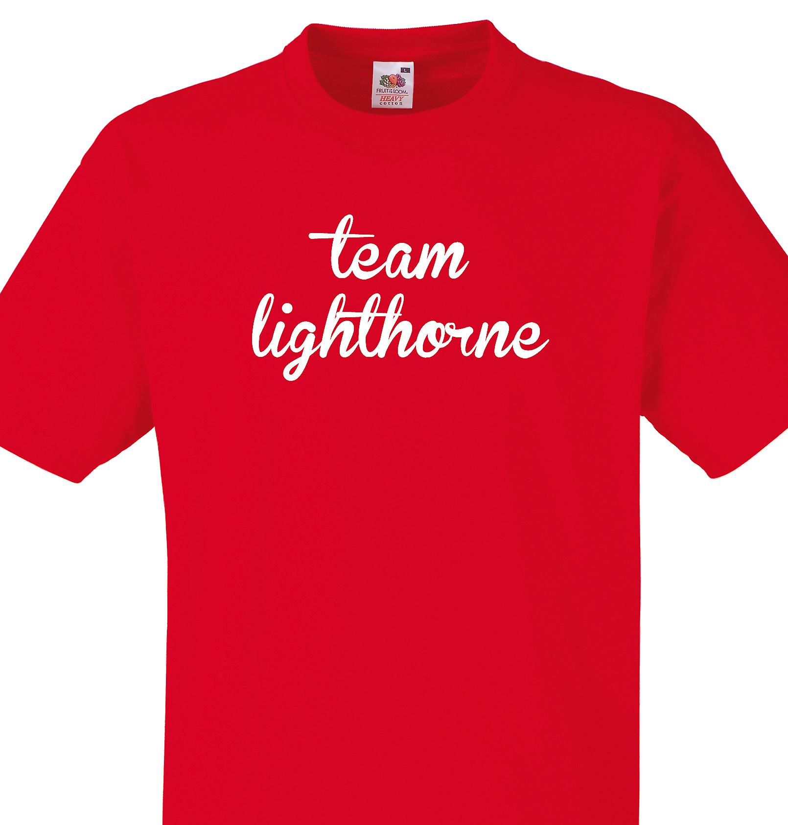 Team Lighthorne Red T shirt