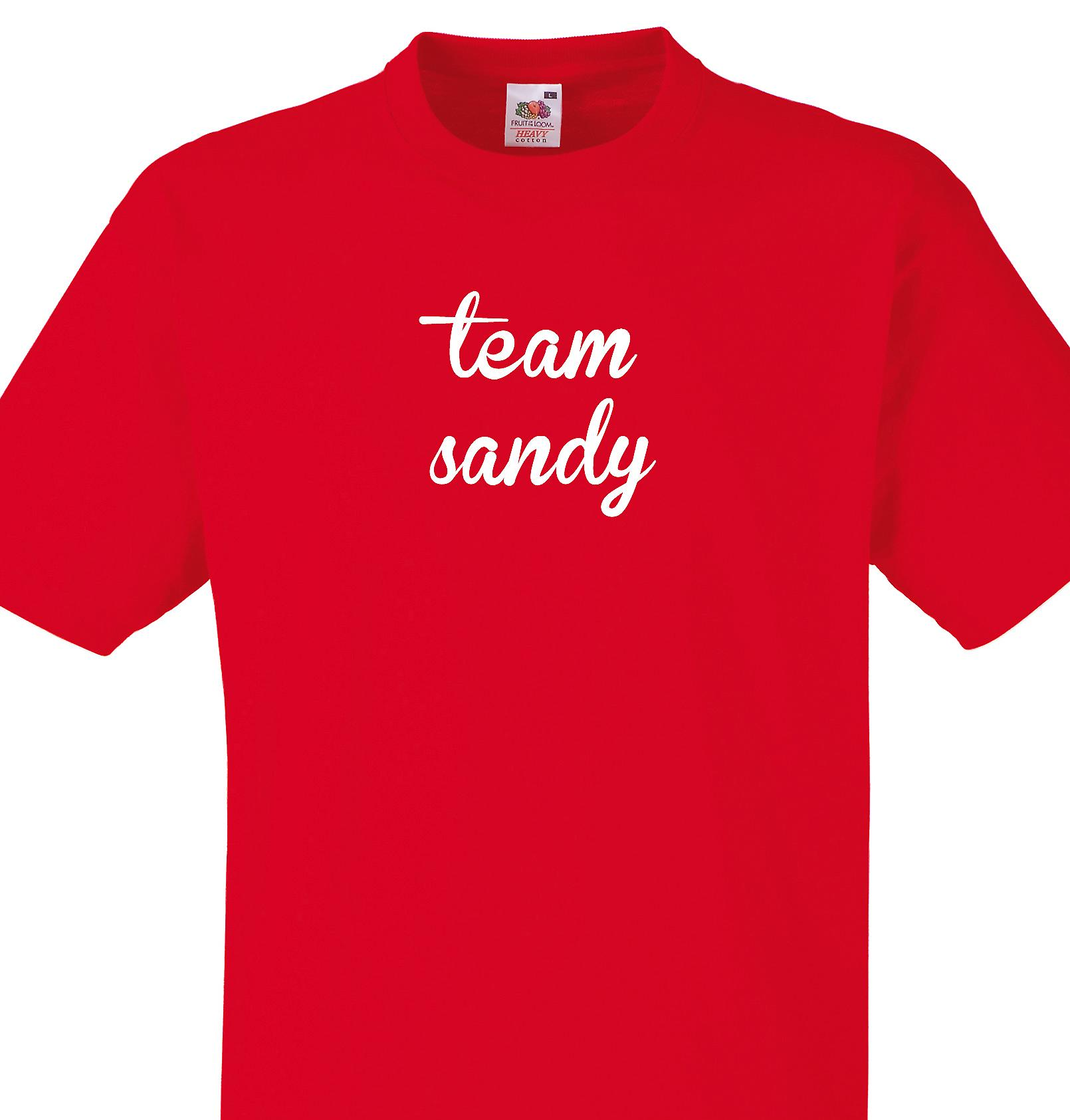 Team Sandy Red T shirt