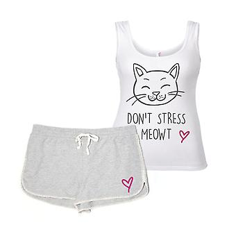 Don't Stress Meowt Cat Pyjama Set