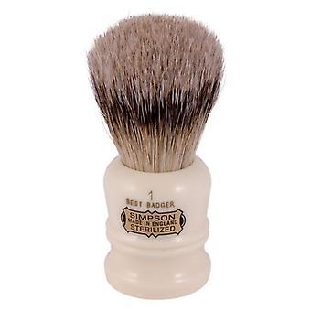 Simpsons Duke D1 Best Badger Hair Shaving Brush Small - Ivory