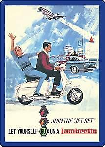 Lambretta Jet Set steel fridge magnet