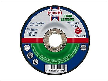 Faithfull Grinding Disc for Stone Depressed Centre 115 x 6 x 22mm
