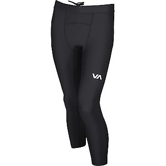 RVCA Mens VA Sport Compression 3/4 Pants - noir