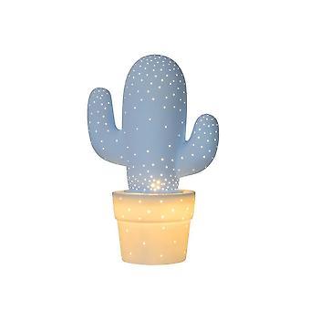 Candeeiro de mesa de azul Pastel de cerâmica retrô lucide Cactus