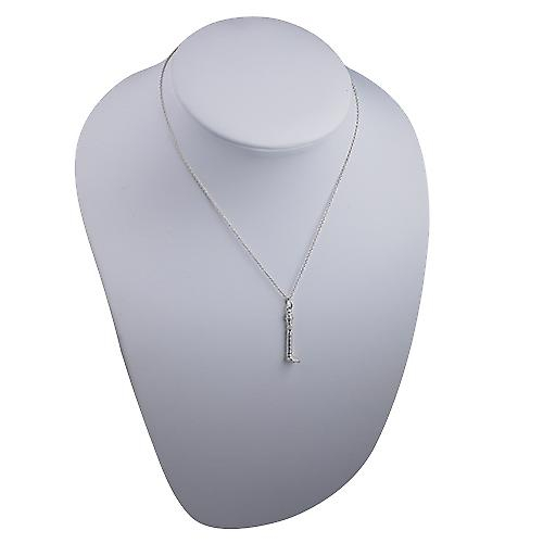 Silver 7x29mm solid GPO Tower Pendant with a Rolo Chain 16 inches Only Suitable for Children