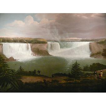 A General View of the Falls of Niagara,Alvan Fisher,50x38cm