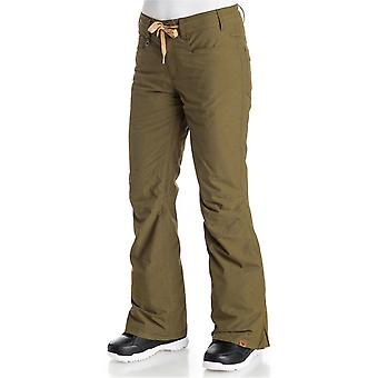 Roxy Military Olive Woodrun Womens Snowboarding Pants