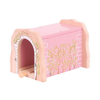 Bigjigs Rail Wooden Pink Brick Tunnel Through Shed Railway Train Set Accessories