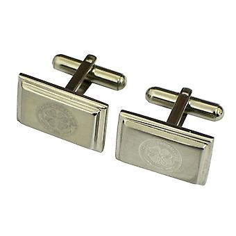 Celtic FC Official Mens Stainless Steel Football Crest Cufflinks