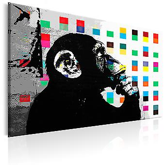 Cuadro - Banksy The Thinker Monkey