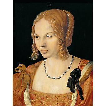 A Young lady of Venice,Albrecht Durer,50x38cm