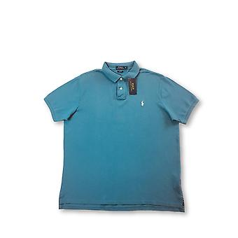 Ralph Lauren Polo Custom Fit Polo in teal blauw
