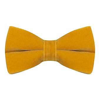 Luxury Dark Gold Velvet Bow Tie