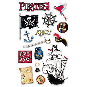 Pirates Gems Stickers Packaged Pirate Words & Images Pgemar 9