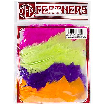 Turkey Flat Feathers 36 Pkg Jewel Mix B708s Jewl