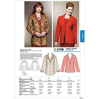 Jackets  Xs  S  M  L  Xl Pattern K3796