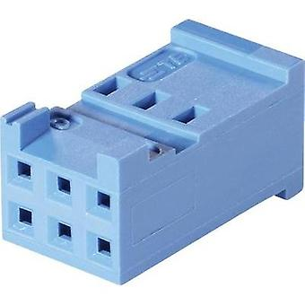 Socket enclosure - cable AMPMODU HE13/14 Total number of pins 6 TE Connectivity 281839-3 Contact spacing: 2.54 mm 1 pc(s