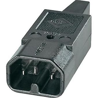 Hot wire connector C16 ATT.LOV.SERIES_POWERCONNECTORS 42R Plug, straight Total number of pins: 2 + PE 10 A Black K & B