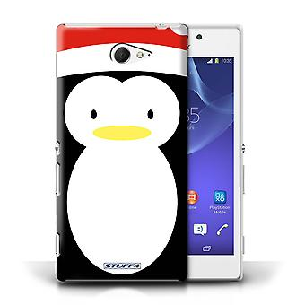 STUFF4 Case/Cover for Sony Xperia M2/Penguin/Christmas Character