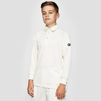 Gunn & Moore Premier Club Long Sleeve Shirt Junior Cricket