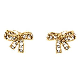 Kenneth Jay Lane Crystal Bow Clip On Earrings