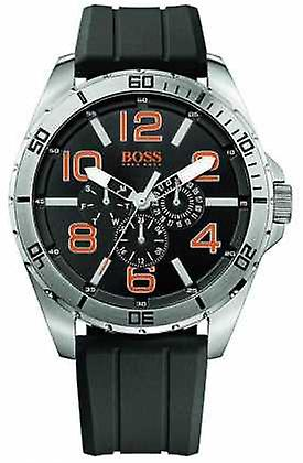 Hugo Boss Orange Mens Stainless Steel Black Rubber Strap Multi Dial 1512945 Watch