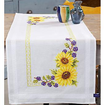 Sunflowers Tablerunner Embroidery Kit-16