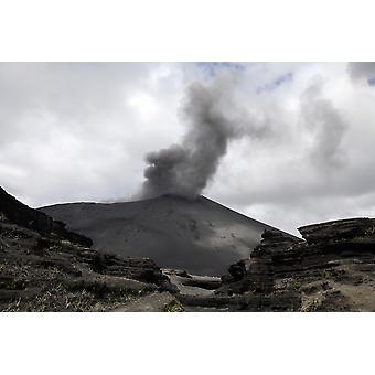 September 4 2006 - Yasur eruption Tanna Island Vanuatu Poster Print