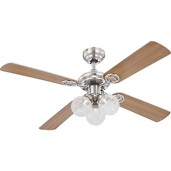 "Globo Ceiling Fan Enigma 105 cm / 42"" with pull cord"