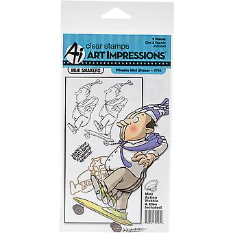 Art Impressions Mini Shakers Card Cling Rubber Stamps 4