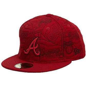 New Era Atlanta Braves Fitted Hat Mens Style : Hat608