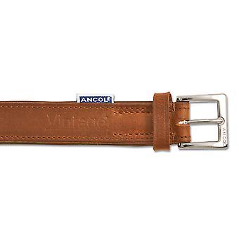 Heritage Vintage läder Vadderade krage kastanj 35-43cm Sz 4